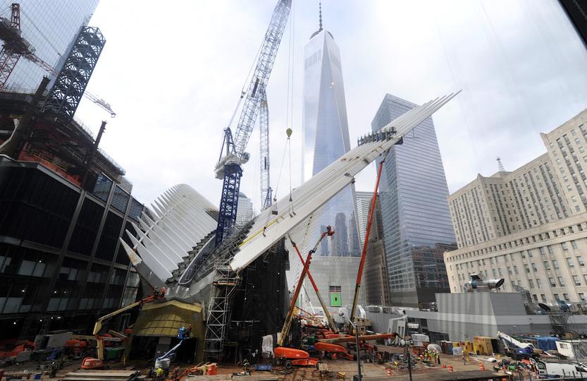 同時多発テロ:建設中のワールトレードセンター駅