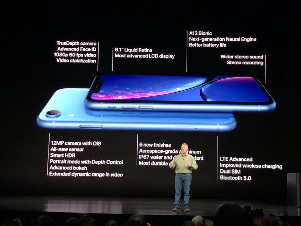 iPhone XRの発表風景