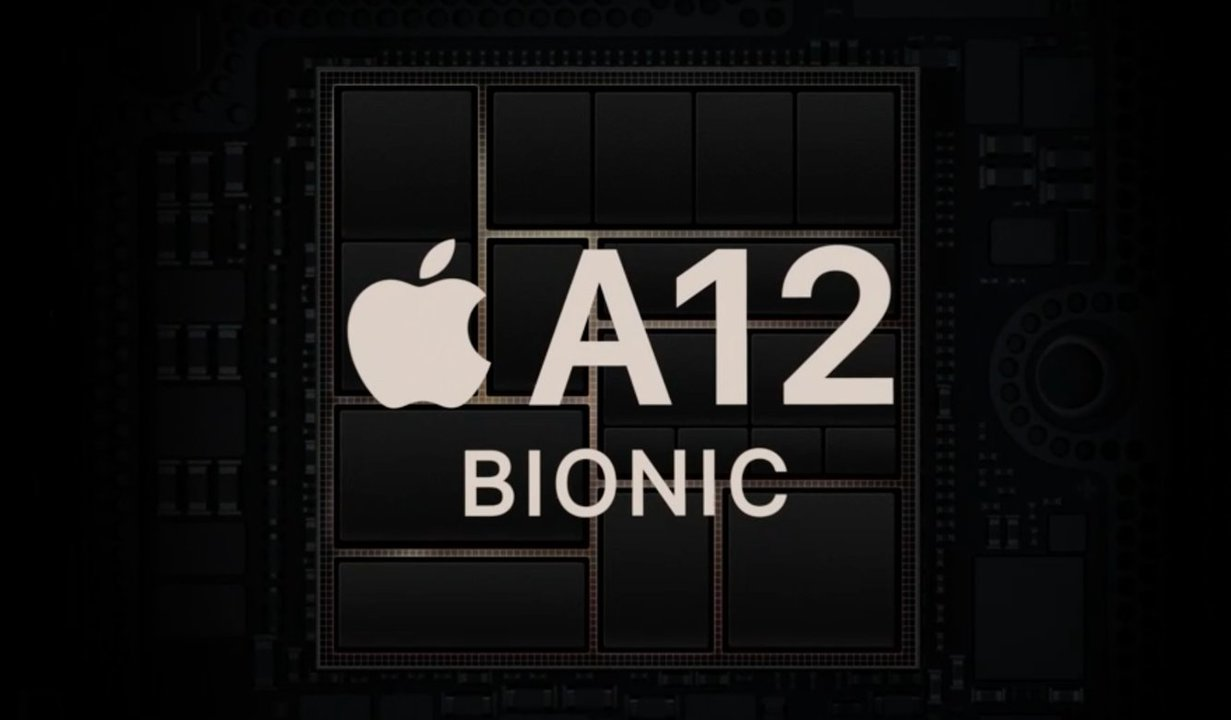 アップルの新プロセッサ「A12 Bionic」の発表画面