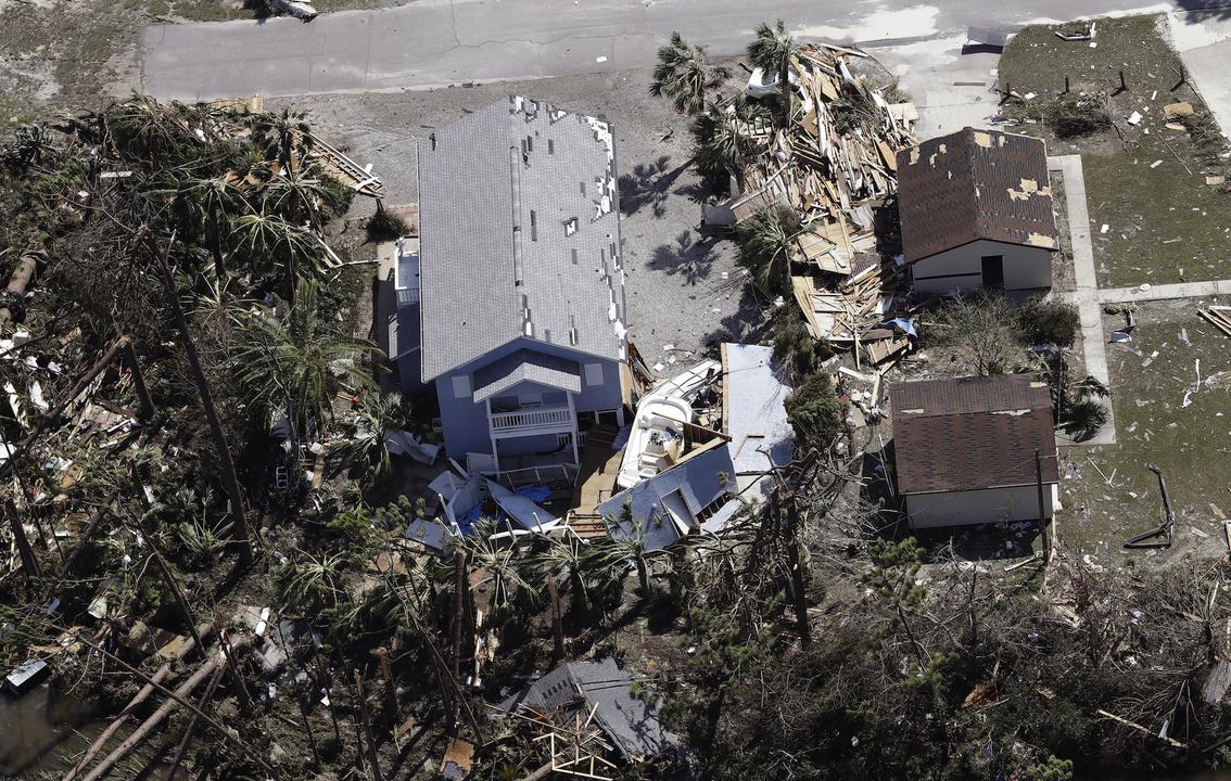 ハリケーン・マイケルが襲ったフロリダ州メキシコビーチ
