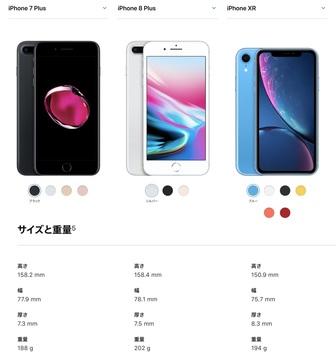 大き さ iphonexr