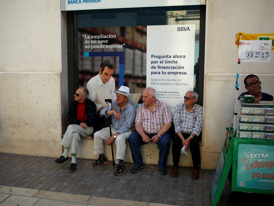 バルセロナの年金生活者