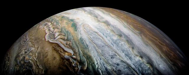 木星の南温帯縞。