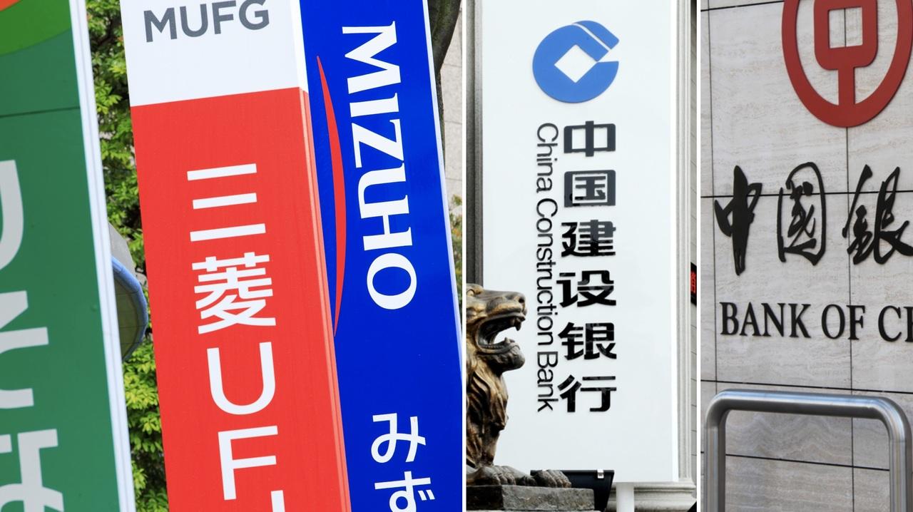 日本と中国の銀行