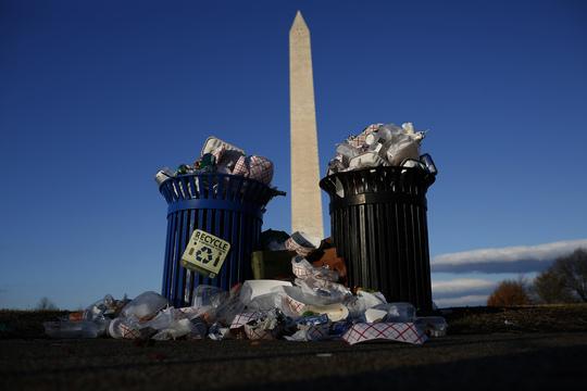 ゴミだらけのナショナル・モール