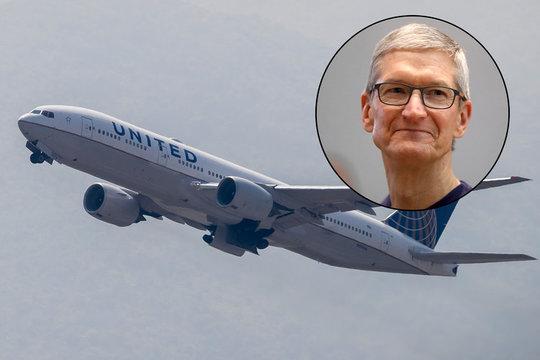 ユナイテッド航空とティム・クック