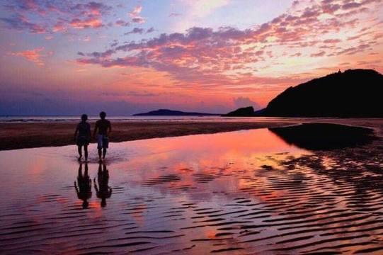 福江島の夕日