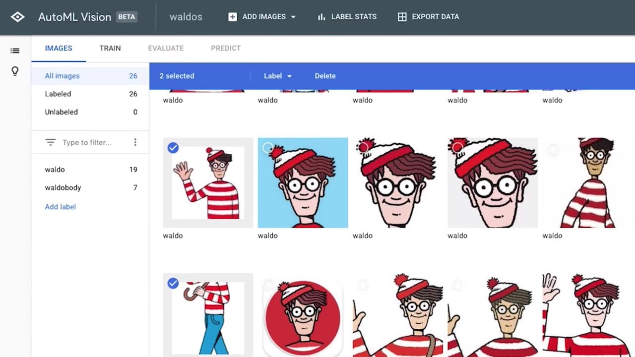 そして顔の画像をグーグルのCloud AutoML Visionに送る。顔の画像は事前に学習済みのウォーリーの画像と比較される。