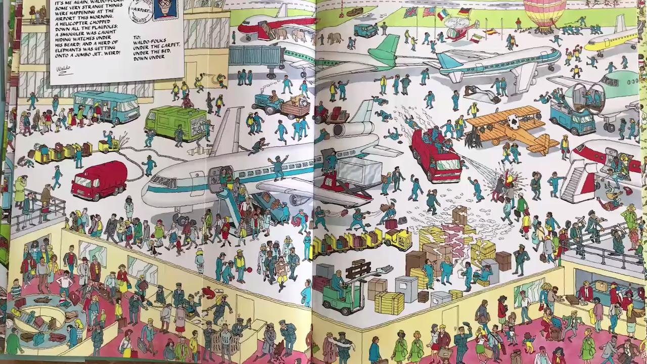 「ウォーリーをさがせ!」5秒以内に探せないと、ロボット「There's Waldo」には勝てない。