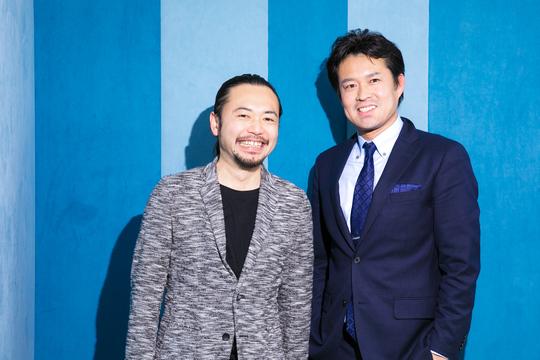 田中先生と寺口さん。