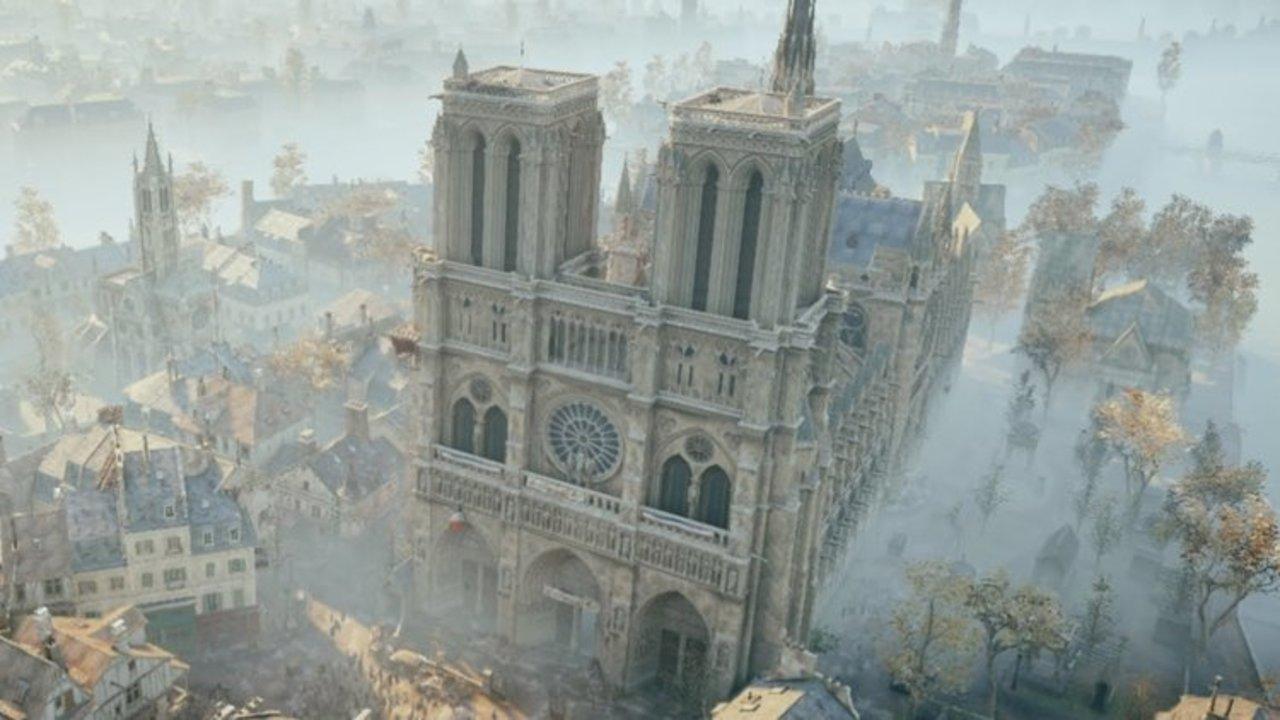 ゲーム「アサシンクリード ユニティ」に登場するノートルダム大聖堂