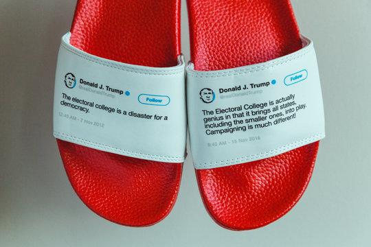 2012年11月、トランプ氏は選挙人団は「民主主義にとって大惨事」とツイートした。ほぼ4年後、2016年の大統領選挙に勝利した数日後、トランプ大統領は選挙人団を「まさに類まれな人たち」と呼んだ。