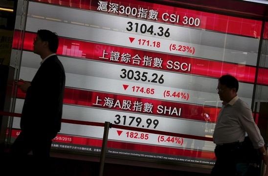 株価ボード。