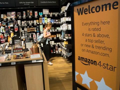 「アマゾン4スター」は評価システムを前面に打ち出した店舗。