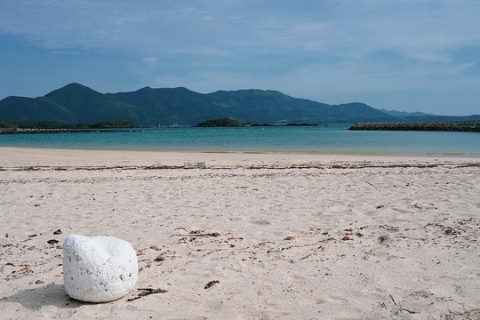 五島の砂浜。