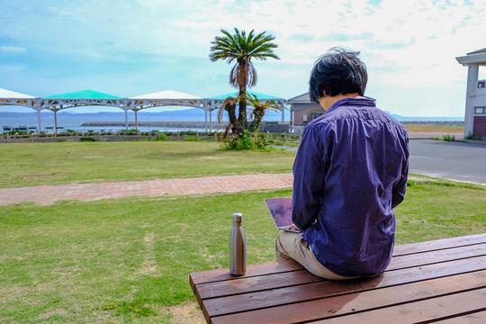五島列島での仕事の様子
