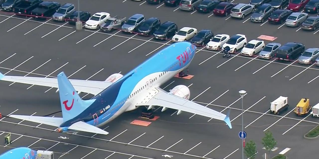 737MAXがボーイングの従業員用駐車場に、なぜ?