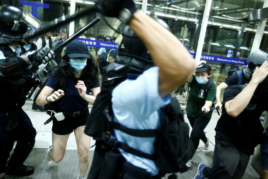 香港のデモ。