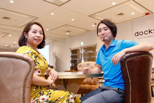 婚活コンサルタントとして活躍する澤口珠子さん(41歳)と、ウェブメディア「LoveTech Media」を運営するあいテクテク代表の長岡武司さん(33歳)。