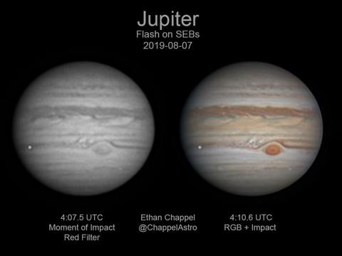 木星に衝突したのは450トンの流れ星だった…アマチュア天文家が撮影 ...