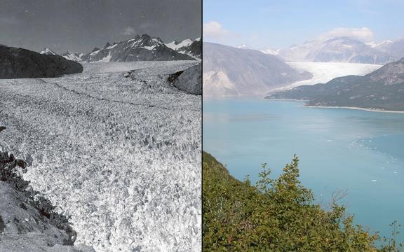 後退する氷河