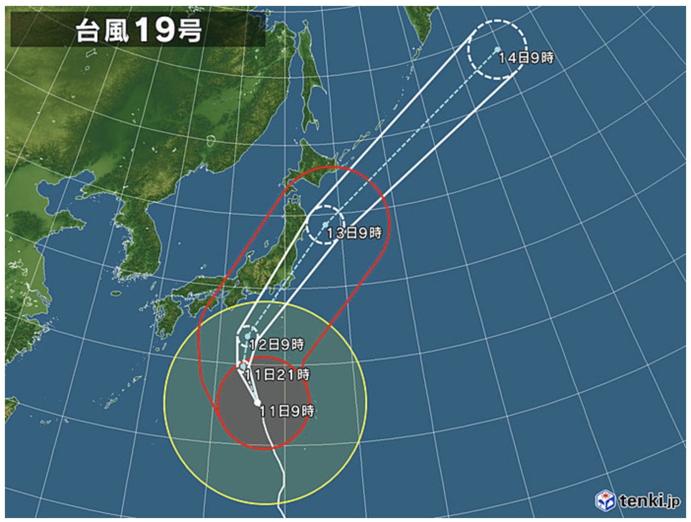 台風 19 号 の 進路 気象庁