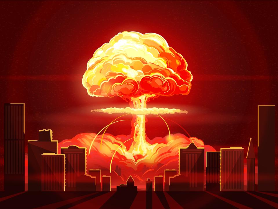 都市で核爆弾が爆発したら