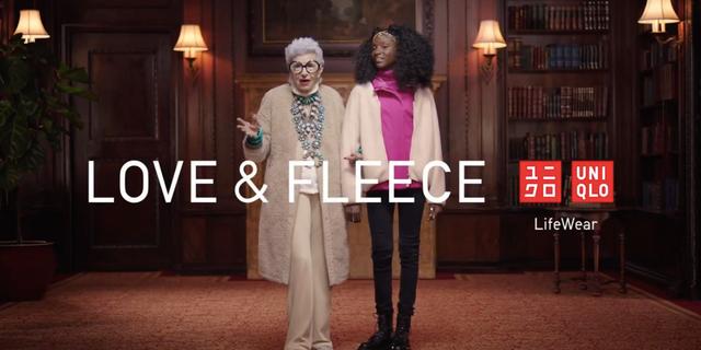 このCMは、98歳のアメリカのファッションアイコンと10代のファッションデザイナーが会話するものだった。