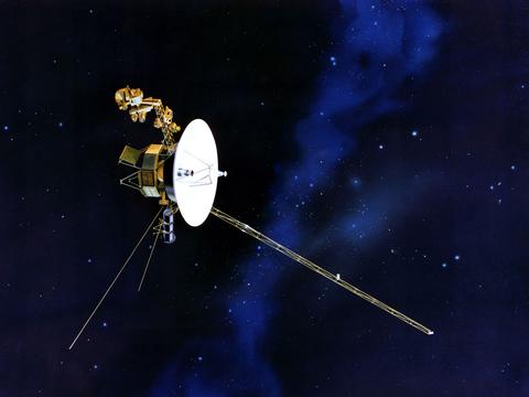 NASAの探査機ボイジャー2号のイラスト。