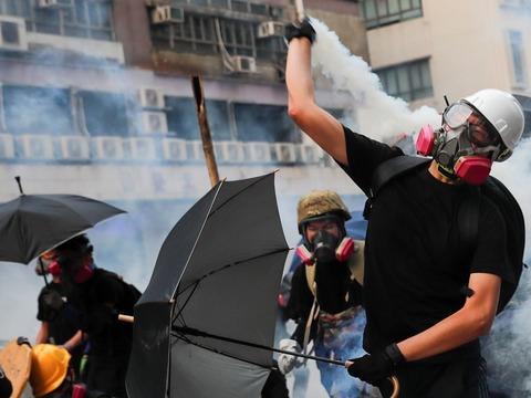 2019年6月12日、香港での抗議活動。