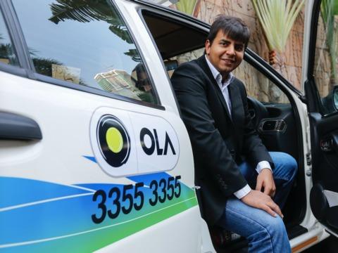 インドにおけるウーバーの競合企業であるオラのCEO、バビシュ・アガルワル(Bhavish Aggarwal)氏。