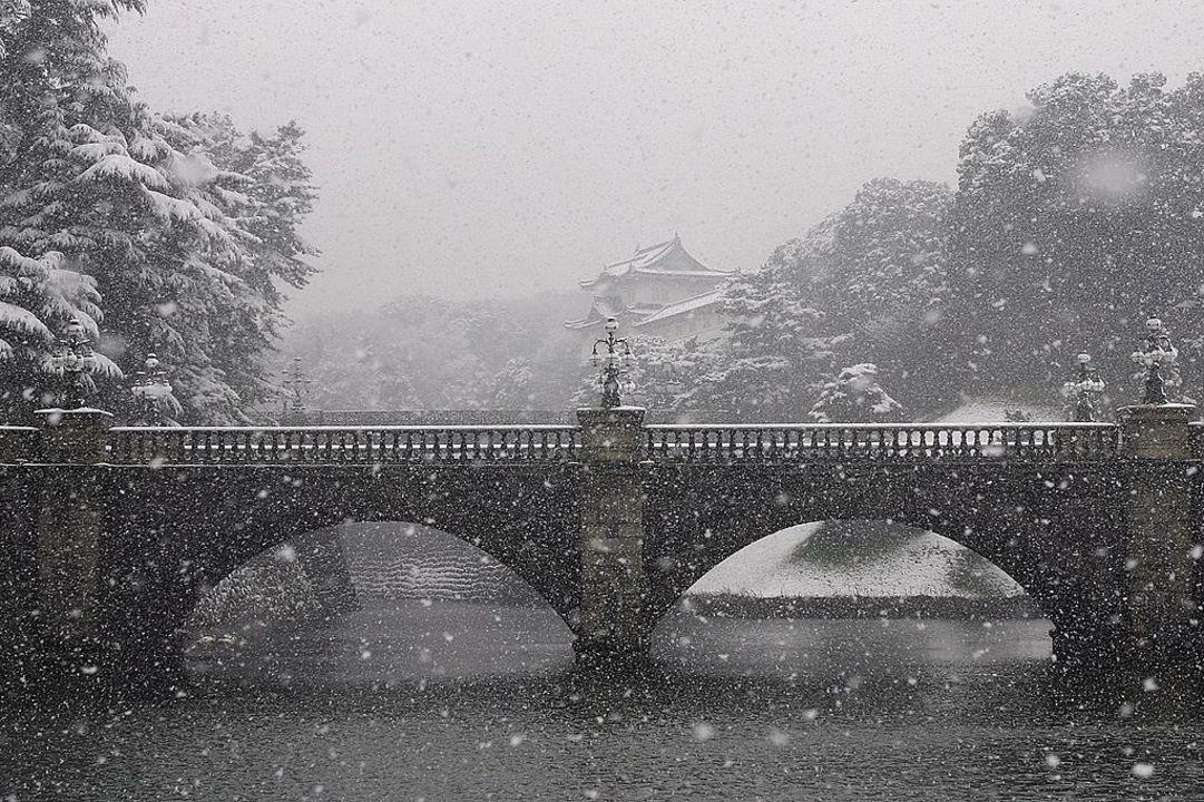 都心の交通機関は雪に弱い。