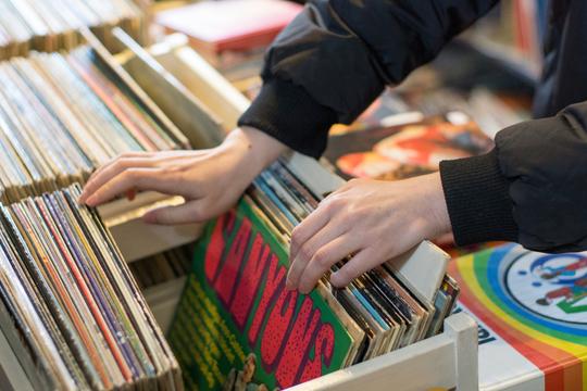 レコード探し