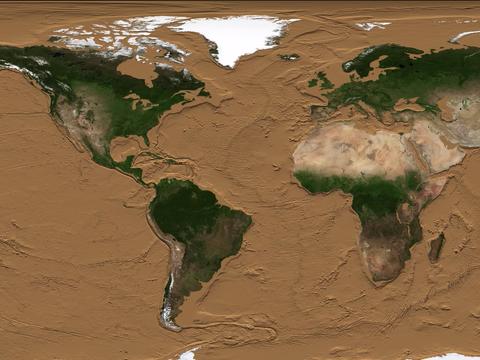 海水のない地表