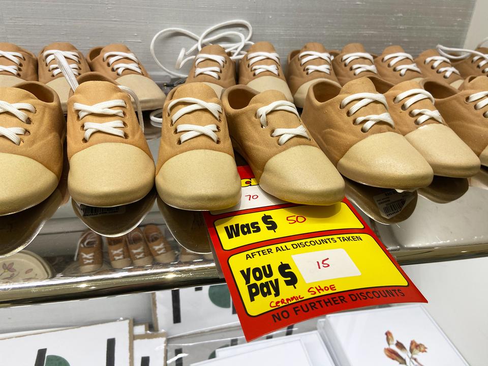 靴の形をした飾り