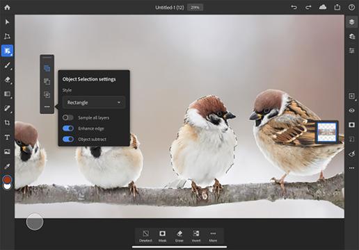オブジェクト選択ツール iPad