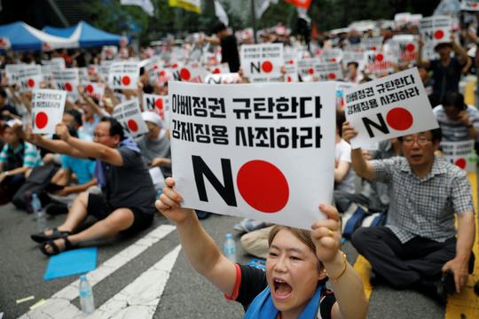 韓国での反日運動