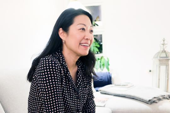 櫻井友子さん、話し姿
