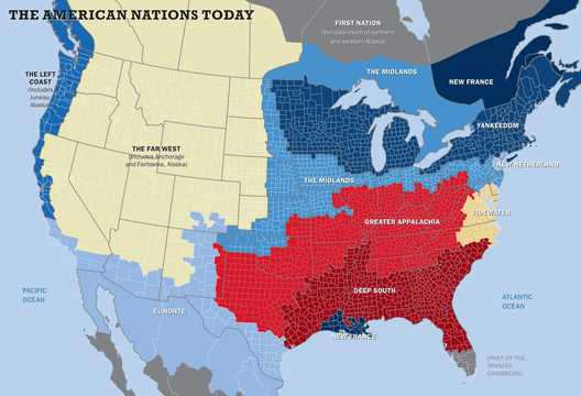 北米には11の「国」がある。
