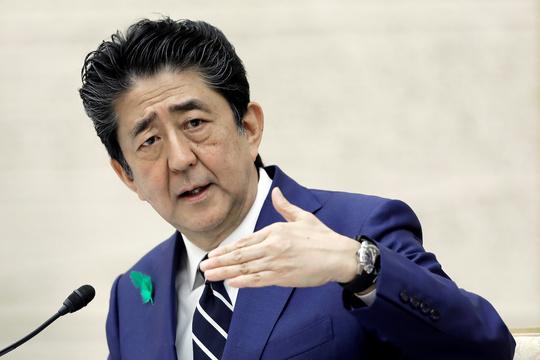 記者会見した安倍晋三首相(2020年4月17日)
