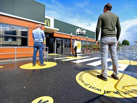 マクドナルトが設計したウイルス対策店舗