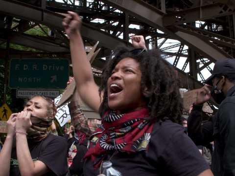 ニューヨークでの抗議活動
