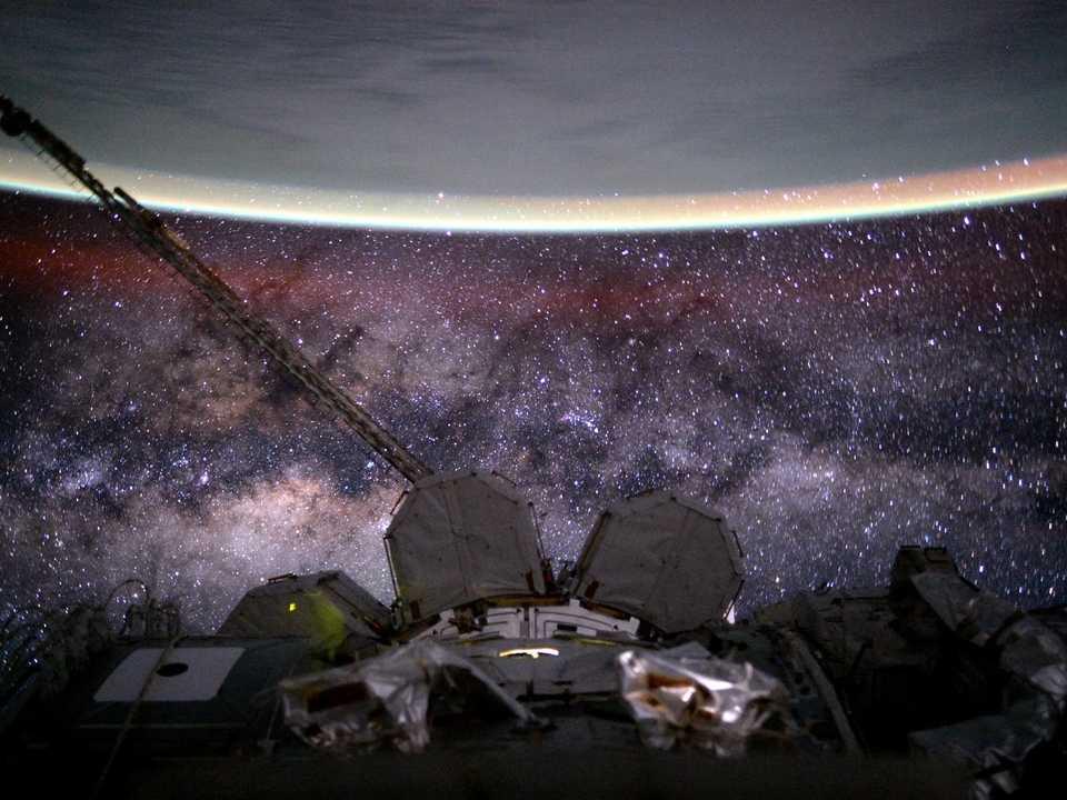 ISSからの天の川銀河