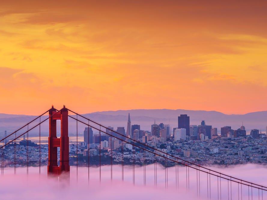 ゴールデン・ゲート・ブリッジ(Golden Gate Bridge)。