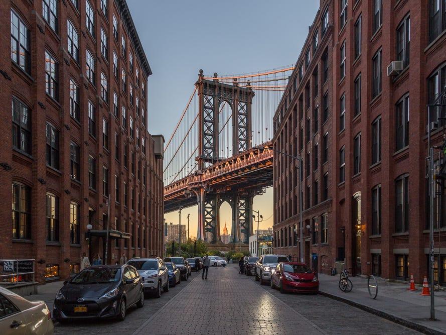 マンハッタン橋(Manhattan Bridge)。
