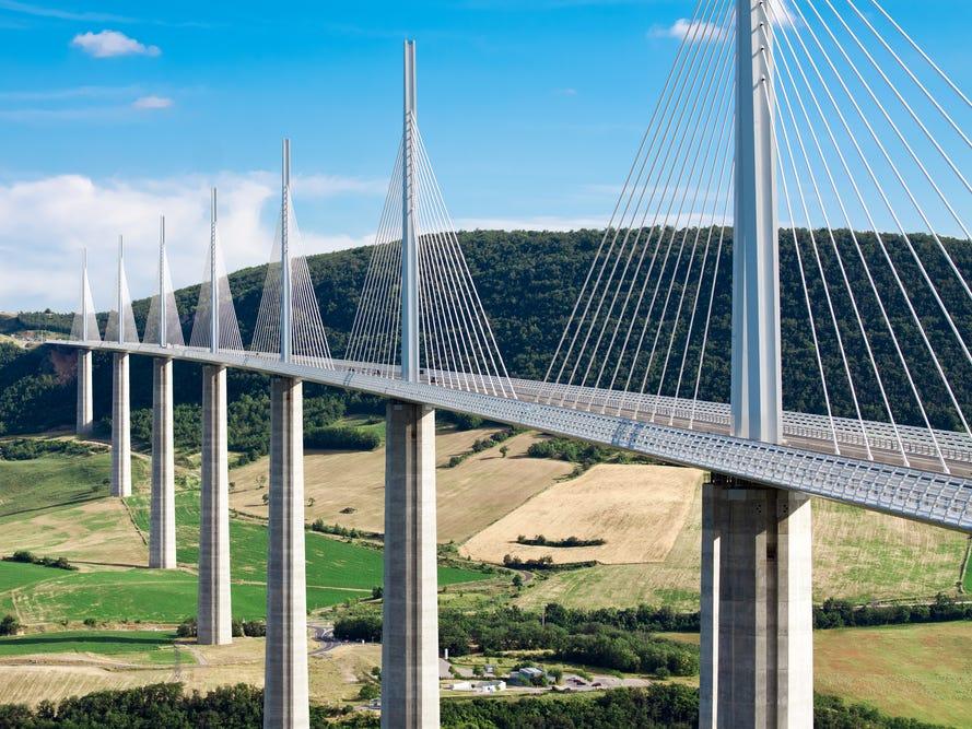 ミヨー橋(Millau Viaduct)。
