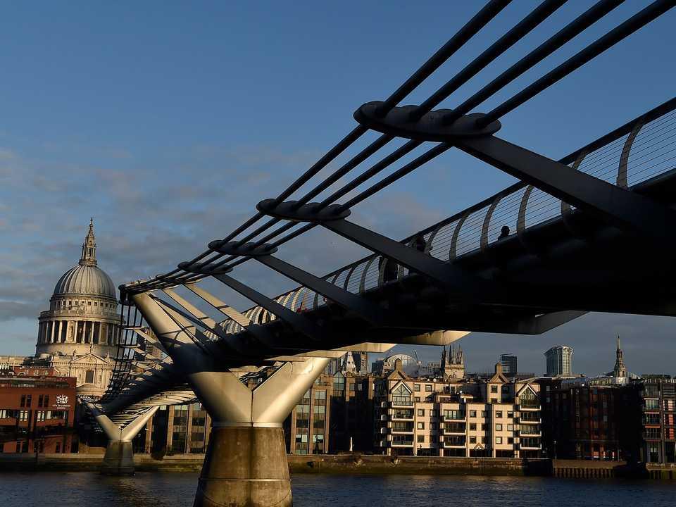 ミレニアム・ブリッジ(Millennium Bridge)。