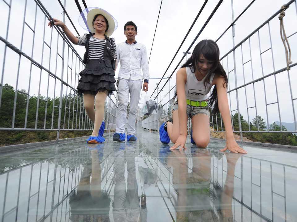 張家界のガラスの橋(Zhangjiajie Glass Bridge)。