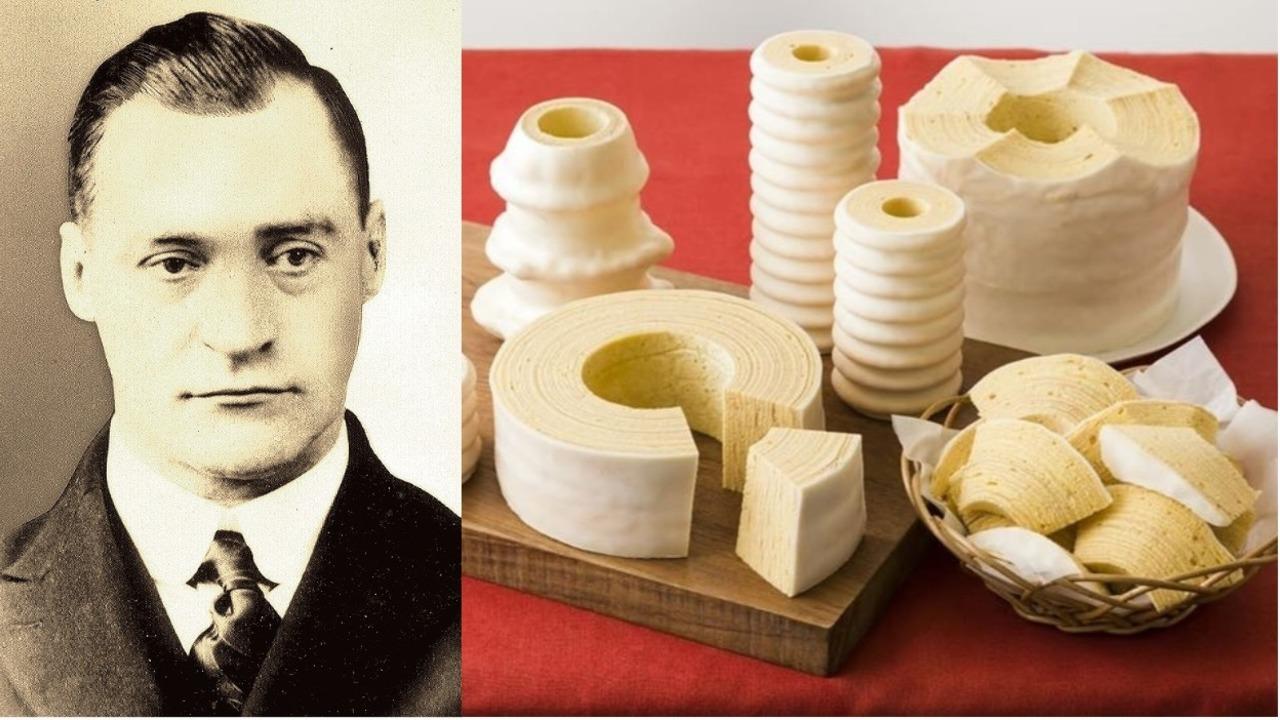 カール・ユーハイム(1886〜1945)は、木の年輪をかたどったドイツ菓子バウムクーヘンを日本に伝えたドイツ人。老舗洋菓子メーカー「ユーハイム」(神戸市)の創業者だ。