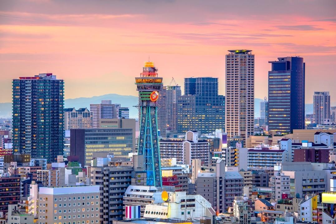 関西の街並みの画像